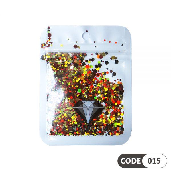 پولک دیزاین ناخن کد 015 دیاموند | DIAMOND