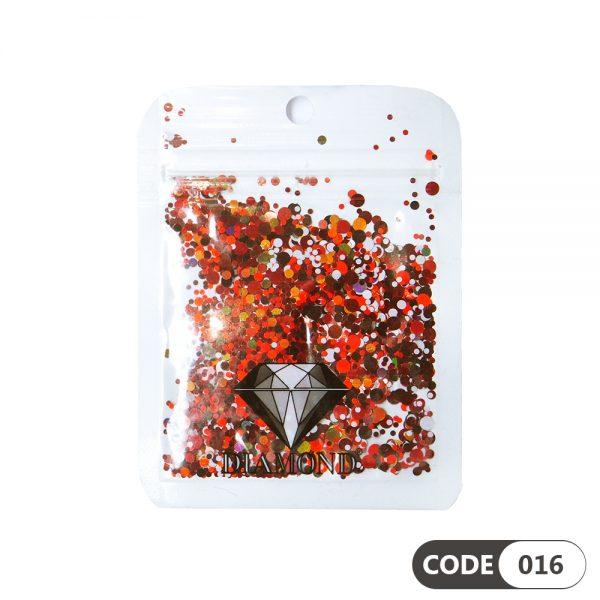 پولک دیزاین ناخن کد 016 دیاموند | DIAMOND