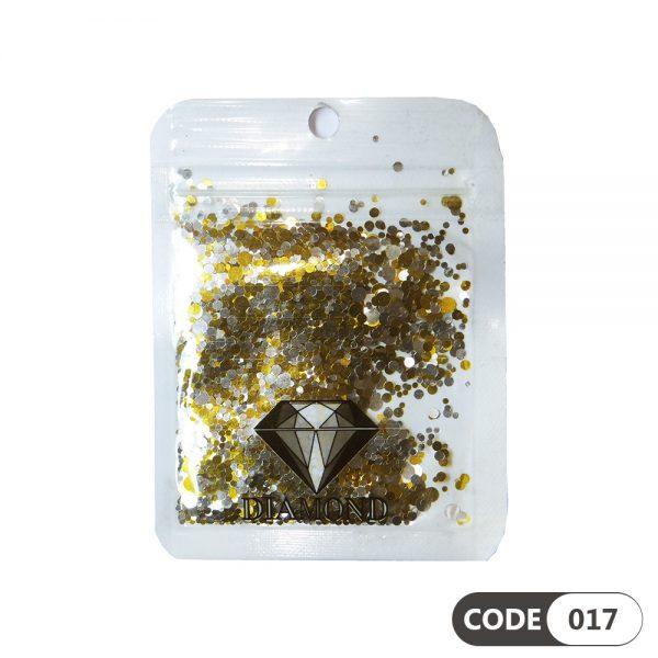 پولک دیزاین ناخن کد 017 دیاموند | DIAMOND