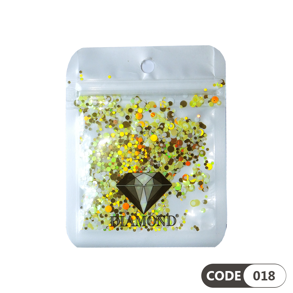 پولک دیزاین ناخن کد 018 دیاموند | DIAMOND