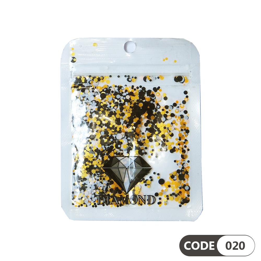 پولک دیزاین ناخن کد 020 دیاموند   DIAMOND