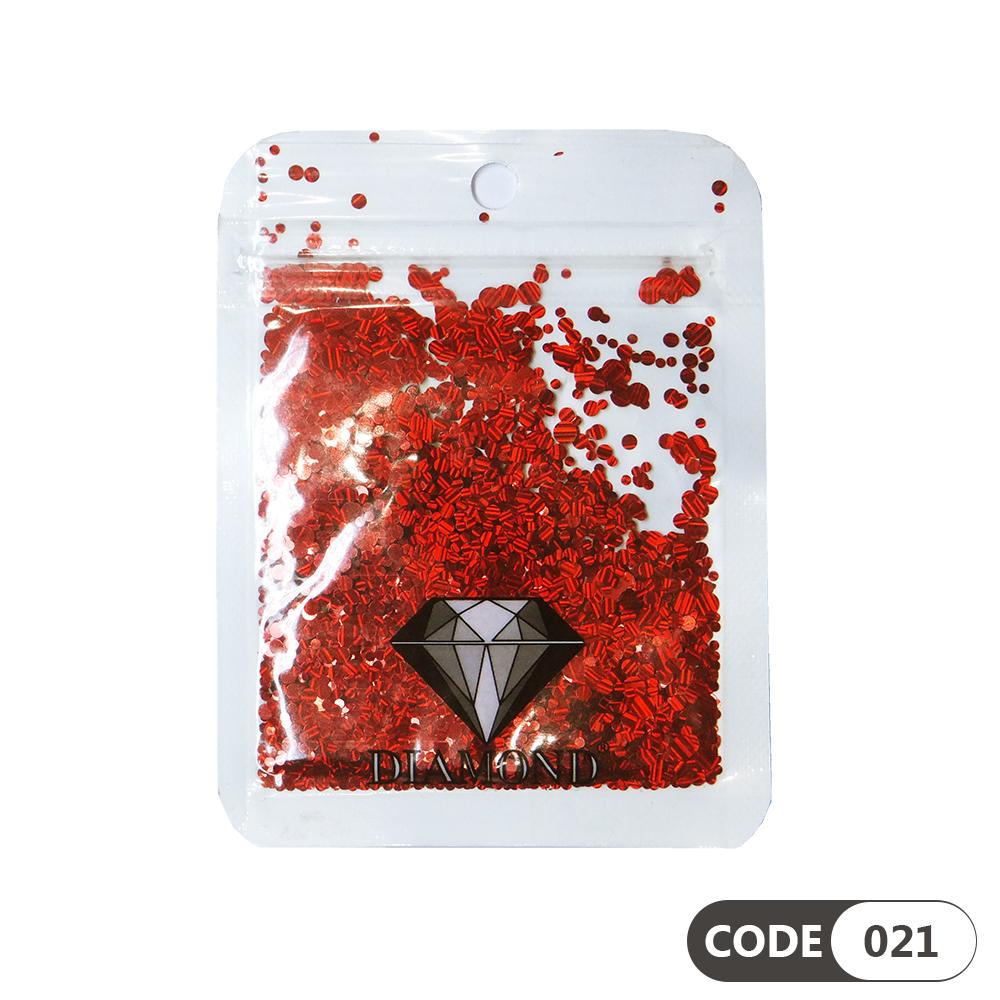 پولک دیزاین ناخن کد 021 دیاموند | DIAMOND