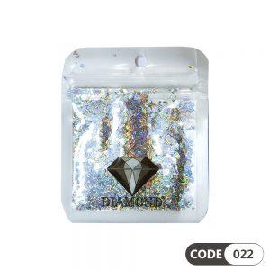 پولک دیزاین ناخن کد 022 دیاموند | DIAMOND