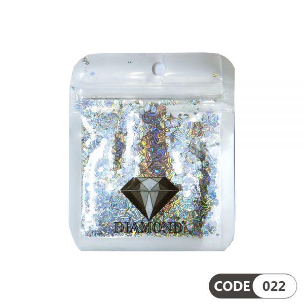 پولک دیزاین ناخن کد 022 دیاموند   DIAMOND