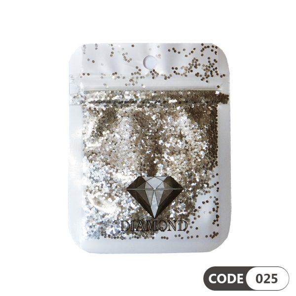 پولک دیزاین ناخن کد 025 دیاموند   DIAMOND