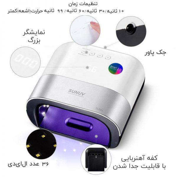 دستگاه یووی ال ای دی UV – LED ناخن 48 وات مدل 3 سان | SUN