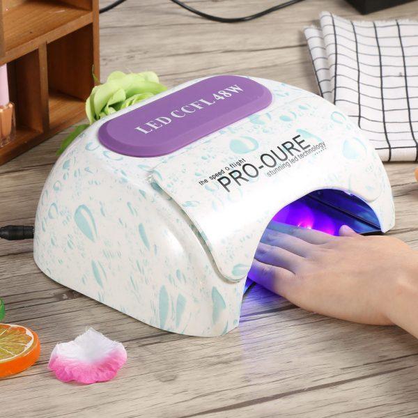 دستگاه خشک کن UV CCFL&LED ناخن 48 وات
